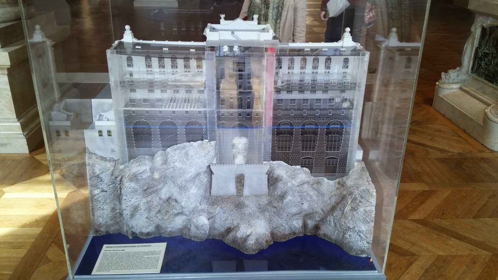 Model of the Aquarium from the sea